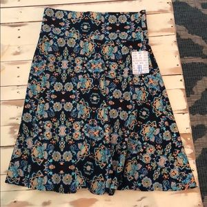 Printed Lularoe Azure skirt